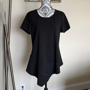 DKNY Black Peplum Top Size XL NWT